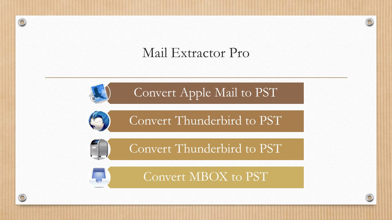 Importing Thunderbird to Outlook